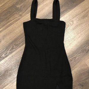motel sexy split lil black dress
